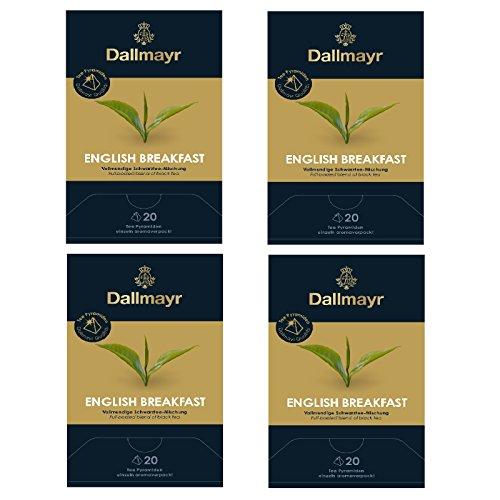 4 x Dallmayr English Breakfast 20 Tee Pyramiden x 2,5g