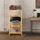 3-Tier Multipurpose Storage Shelf, 31.5 Inches Height Industrial Bookcase, Modern Display Shelving Units and Side Table for Living Room, Bedroom, Kitchen, Balcony Decor(light Cherry Wood)