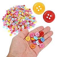 プラスチックボタン、ハンドクラフトアクセサリー手作りの装飾品12mm / 0.5in手動DIYボタン、クラフトプロジェクトコレクション用1000個(15mm)