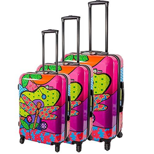 Estuche 4W Hardshell Trolley CASE Lady Bug 3PCS
