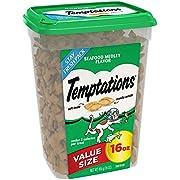 Temptations Classic Cat Treats Seafood Medley Flavor, 16 Oz. Tub