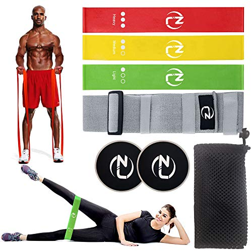 ZJ Resistance Bands | Latex Exercise Bands Set |Fitness and Workout Bands |Booty Bands| Workout Guide Carry Case || Workout Equipment for Home Workouts Strength Training Full Body Gym Accessories