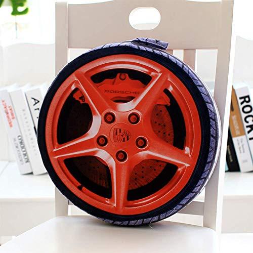 OOFAY Personality 3D Autoreifen Kissen Simulation Reifen Pl/üschspielzeugkissen,Mercedes,38cm*7cm