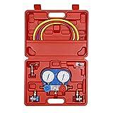 B4B BANG 4 BUCK AC Diagnostic Manifold Gauge Kit for Air Conditioning Charging/Vacuum Pump Evacuation, Fits R134A R404A R410A and R22 Refrigerants