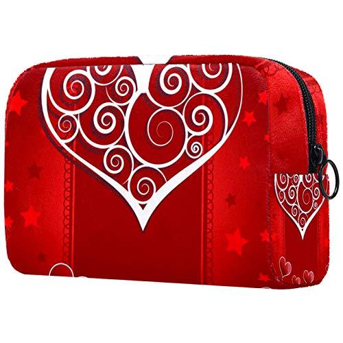 Schminktasche Reise Kosmetiktasche Tasche Geldbörse Handtasche mit Reißverschluss - Einladungskarte Design