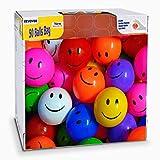 EEVOVEE 50pcs Plastic Smily Kids Pool Ball for Kids 6cm - 50pcs Premium