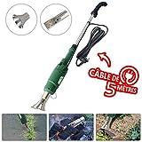 Désherbeur électrique 2000 W | Brûleur électrique de mauvaises herbes | Enlève les mauvaises herbes en quelques secondes | Allume barbecue | Sans flammes ni produits chimiques \ Brûleur 2 en 1