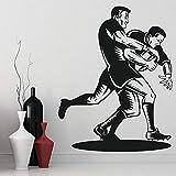 BFMBCH Rugby sticker mural pour salon vinyle sticker mural centre de remise en forme chambre décoration sticker mural A2 57x72cm