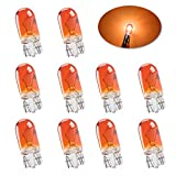 Micro standard La lampadina alogena T10 W5W è di rambra e luminoso 194 168 501 Luci di guida a cuneo Luce laterale DRL Luci del cruscotto freno fanale posteriore-10PCS