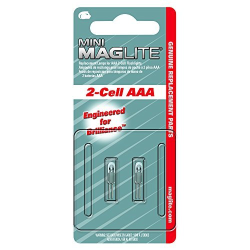 Maglite Replacement 2 Cell Flashlight 2 Pack