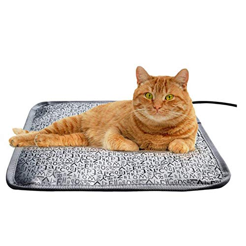JIEZ Almohadilla térmica para Mascotas, Gato, Perro, Almohadilla calefactora, Calentador eléctrico para Mascotas, Gatito/Cachorro, colchón Calefactor Grande, Impermeable, Manta eléctr
