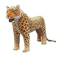 S&C Live ぬいぐるみ  豹ヒョウ リアル 特大 アフリカ豹モデルぬいぐるみ 動物静態モデルぬいぐるみ 豹縫い包み/豹抱きぬいぐるみ/お祝い/お礼プレゼント ふわふわやわらかぬいぐるみ 癒しグッズ どっきりグッズ 面白グッズ  七五三祝いプレゼント こどもの日プレゼント 御出産祝い お誕生御祝いプレゼント 親友へのプレゼント 彼女恋人への贈り物 ゴージャスプレゼント 豹ぬいぐるみ 豹抱き枕 特大 豹家族#17295 (長63㎝、高45㎝)