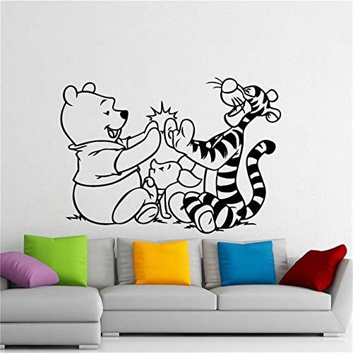 Winnie l'ourson décalque Winnie l'ourson Winnie l'ourson Tigrou Cartoon autocollant chambre d'enfant décoration intérieure maison chambre d'enfants