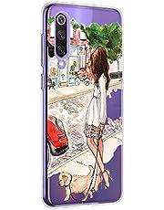 Oihxse Funda Compatible con Huawei P40 Pro, Carcasa Transparente TPU Silicona Gel Ultra Fina Suave Protección Flexible Lindo Dibujos Anti-rasguños Caso Cubierta (A4)