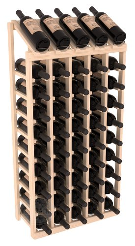 Wine Racks America Pine 5 Column 10 Row Display Top Kit Unstained