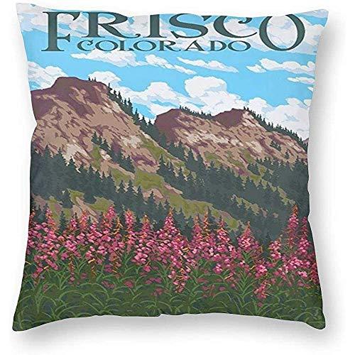 Bella-shop Stile Frisco Colorado USA World Travel Art Poster Gettare Pillowcase Fodere per Cuscino Personalizzate Fodera per Cuscino 1 Confezione Federa per Cuscino