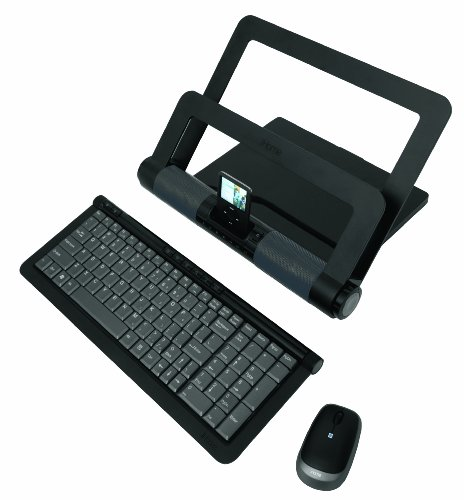Lifeworks Technology iHome iStand Media Center Bundle with Wireless Keyboard and Wireless Laser Mouse (Black)