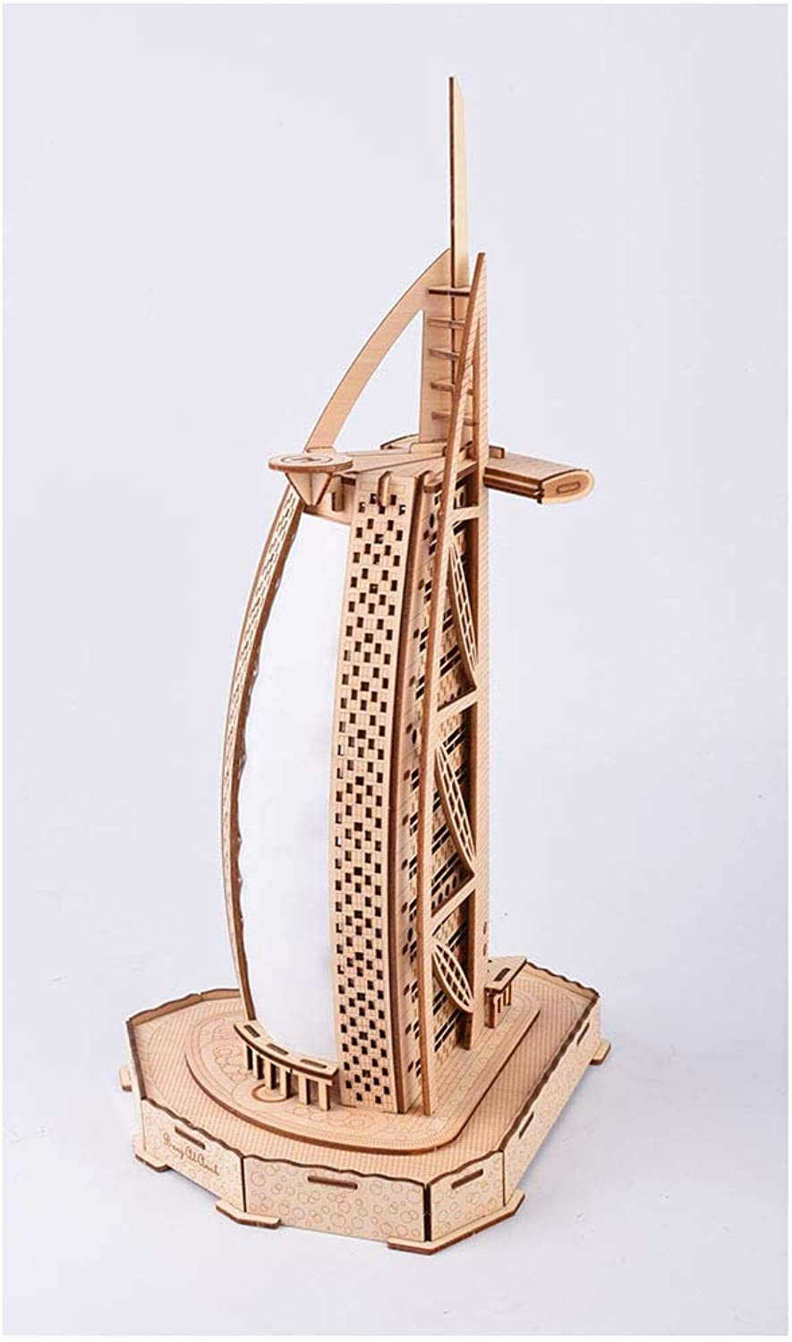3D Jigsaw Puzzles DIY Burj Al Arab Hotel, Wooden Assembly Kits 85pc Educational Toys Gifts for Kids