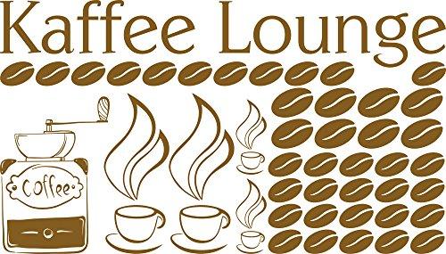 GRAZDesign muurtattoo keuken koffie lounge - keukendecoratie koffiebonen - beste vriendin geschenk wandtattoo koffiekopje / 770083 091, goud