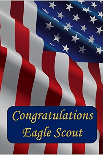 American Flag Congratulations Card great for Eagle Scout