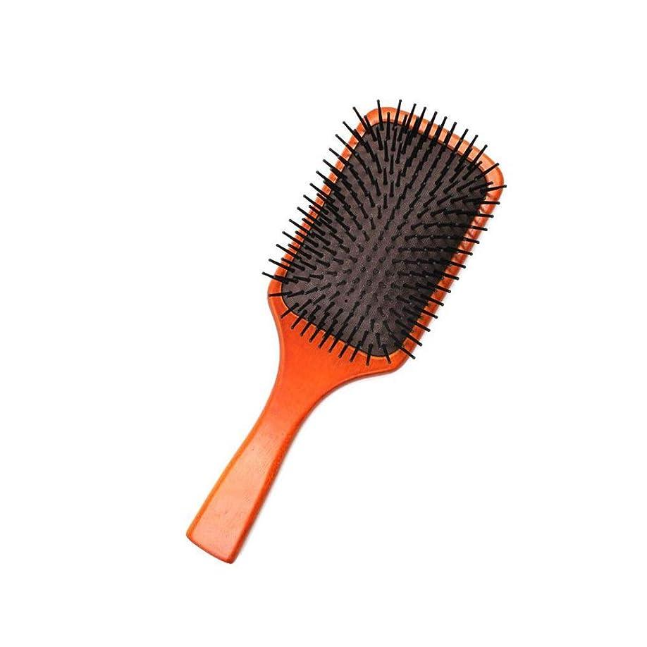 こだわり拍手区別するFashianバーチ木製ヘアブラシマッサージくし頭皮ブラシエアクッションコームズ帯電防止 ヘアケア (色 : Photo color)