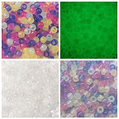 Cuentas europeas de resina luminosas de Cheriswelry, que cambian reactivamente los rayos UV sueltos brillan en la oscuridad para hacer pulseras de joyería,