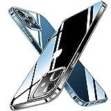 CASEKOO iPhone12 Pro 用 ケース iPhone12 用 ケース クリア 黄変防止 耐衝撃 米軍MIL規格 耐久 SGS認証 カバー ストラップホール付き ワイヤレス充電対応 2021年 アイフォン 12/12Pro 用 6.1 インチ ケース(クリア)