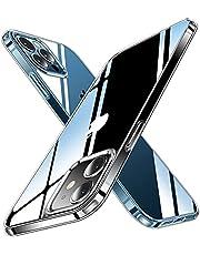 CASEKOO iPhone12 Pro 用 ケース iPhone12 用 ケース クリア 黄変防止 耐衝撃 米軍MIL規格 耐久 SGS認証 カバー ストラップホール付き ワイヤレス充電対応 2021年 アイフォン 12/12Pro 用 6.1 インチ ケース(クリア)…