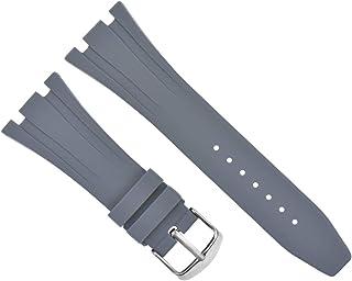 26mm Ap Rubber Band Strap Compatible with 41mm Audemars Piguet 15400 Royal Oak Offshore Grey