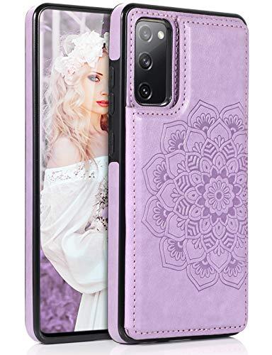 Funda para teléfono móvil compatible con Samsung Galaxy S20 FE 5G funda de piel prémium tarjetero atril cierre magnético carcasa silicona 360 grados antigolpes funda plegable para Samsung S20 FE