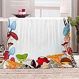 ZFSZSD Manta de Felpa de Franela Color y Seta Manta de Felpa para Sofá Cama Extra Suave Transpirable & Cálida Todas Las Estaciones 130x150cm