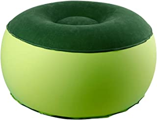 ZHUIQU Inflatable Stool Ottoman Chair for Dorm or Outdoor, Kids or Adults, Camping or Sports(Round)