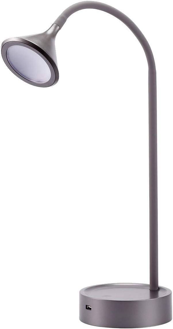 Max 56% OFF BLACK+DECKER VLED1812GRAY-BD Flexible Gooseneck Charging USB Finally popular brand Por
