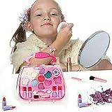 Juego de maquillaje de seguridad para niñas Juegos de imaginación, un estuche para maquillaje de regalo para niños, kit de simulación cosmética ecológica para la novedad de la niña
