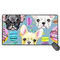 犬とチェリー マウスパッド 大型 ゲーミングマウスパッド キーボードパッド 防水マウスパッド 拡張マウスパッド 滑り止め ゲーム向け オフィス おしゃれ 750*400*3mm