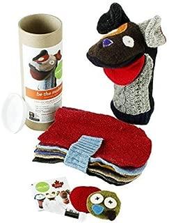 Cate & Levi - Hand Puppet Making Kit - Premium Reclaimed Wool - Machine Washable (Dog)