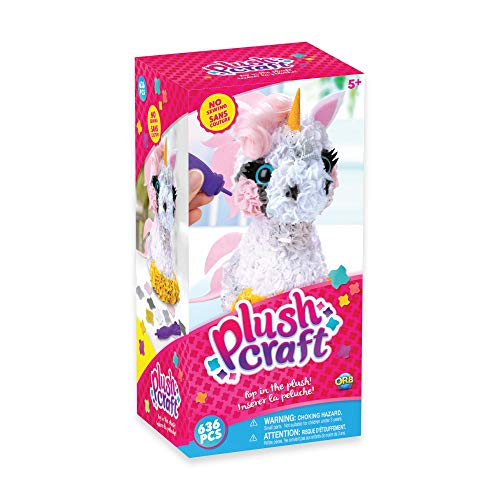 THE ORB FACTORY LIMITED 10027964 Plush Craft 3D Unicorn, 5' x 4' x 10', Pink/White/Yellow/Grey