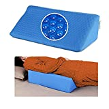Wedge Pillows for Sleeping Bed Gel Wedges Body Positioners 30 Degree Incline Wedge Pillow for Adults, Back Pain, Bed Sore Medical Foam Elevated Legs Bolster (Blue-Gel)