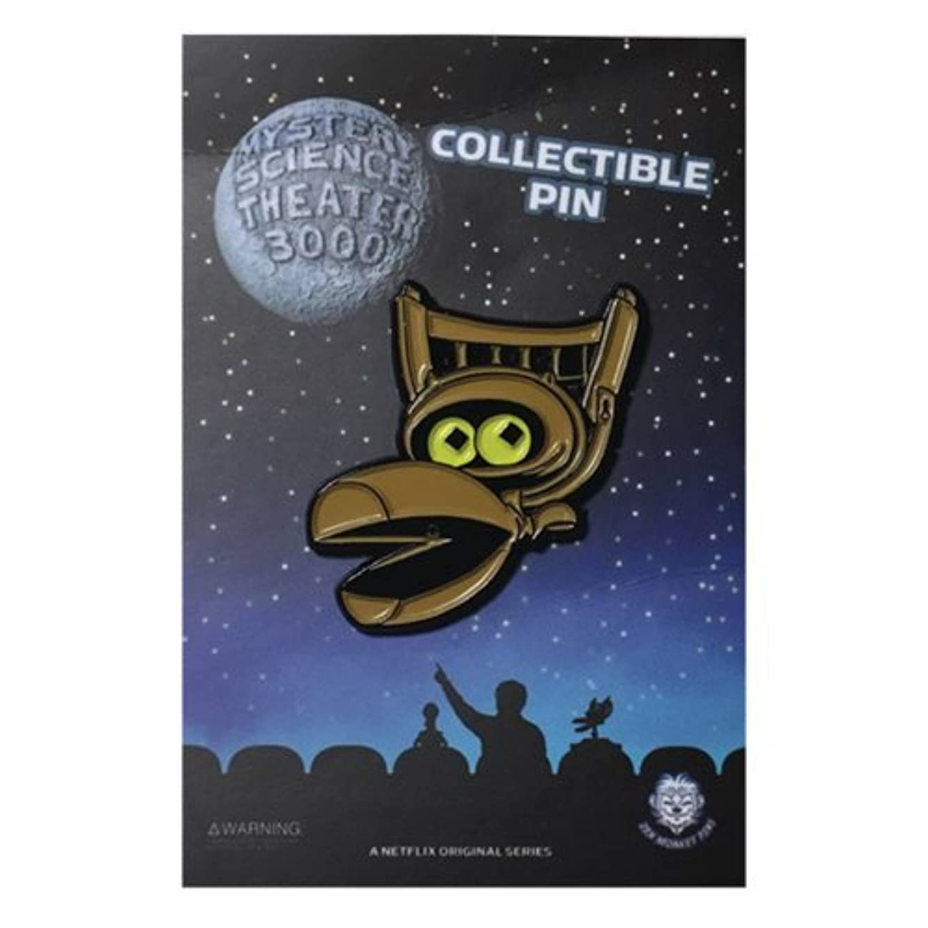 Officially Licensed Mystery Science Theater 3000 Crow Pin - 1.65