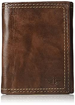 Dockers Men s Extra Capacity Trifold Wallet Brown Emboss One Size