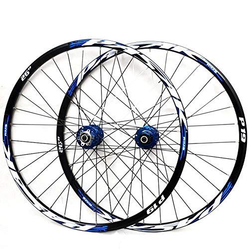 LYzpf Cerchio Ruota Bici Mountain Bike Anteriore Posteriore Set Cerchi Disco Bicicletta 26/27.5/29 inch Accessori Attrezzature Lega Dlluminio,Blue,29inch