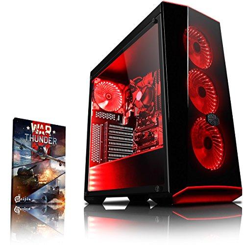 Vibox VBX-PC-278346 Gaming Desktop PC (AMD Ryzen 3-2200G, 1000GB harde schijf, 8GB RAM, geen besturingssysteem) rood
