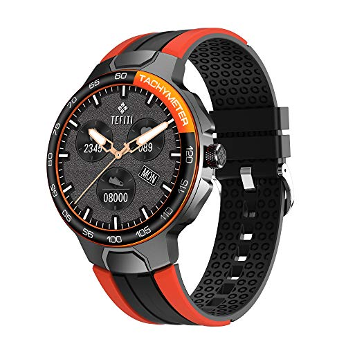 Smart Watch 2021, Waterproof Sports Smart Watch for Men Women, Fitness Tracker with 24 Sports Mode, Heart Rate, Blood Pressure, SpO2 Monitor, Sleep Tracker for Android and iOS Phone