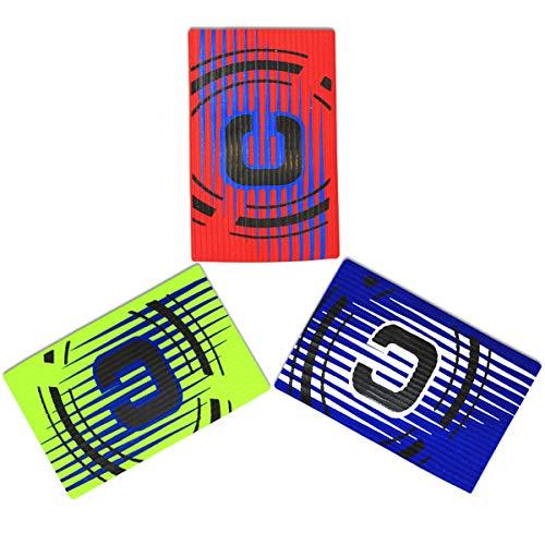 cjixnji Fußball Captain Armband, Fußball Elastic Armband,Klettverschluss für verstellbare Größe, geeignet für mehrere Sportarten wie Fußball & Rugby, grün (5 Stück) (3)