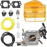 ZAMDOE C1M-EL37B Carburador de Repuesto para Motosierra de Gas Husqvarna 445 445E 450 450E, para Jonsered CS2245 S II 2250, con Juntas, Filtro de Aire, línea de Combustible, bujía