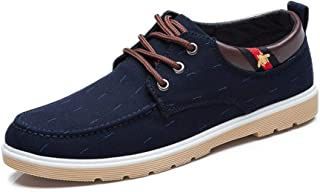 High-end Canvas Shoes Men's Casual Trend Single Shoes Low to Help Casual Shoes Ryan Shoes (Color : Blue, Size : 42)