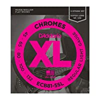 DADDARIO (ダダリオ) 5弦ベース弦 ECB81-5SL Chromes Bass 5-Strings Light 45-132 SuperLong