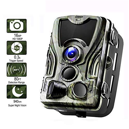 AMHDEE 3G Wildkamera Suntek 16MP 1080P Full HD Jagdkamera Infrarote 940nm 36 LEDs Nachtsicht Bewegungsmelder 120 ° Weitwinkelobjektiv IP65 Wasserdicht 0,3s Auslösezeit