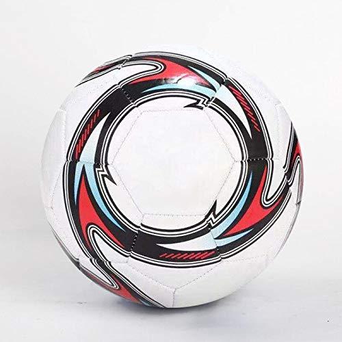 Lonshi Ballon de Football en PVC + EVA - Taille 5 - Doux et léger - pour l'intérieur et l'extérieur (Blanc)
