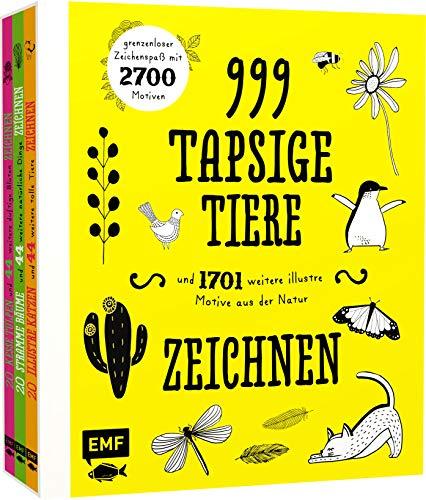 999 tapsige Tiere und 1701 weitere illustre Motive aus der Natur zeichnen: grenzenloser Zeichenspaß mit 2700 Motiven